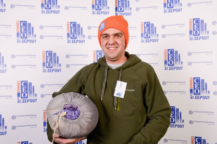 David Spriggs at the Vinnies CEO Sleepout
