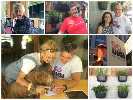 Collage of people visiting Go Digi at The New Joneses