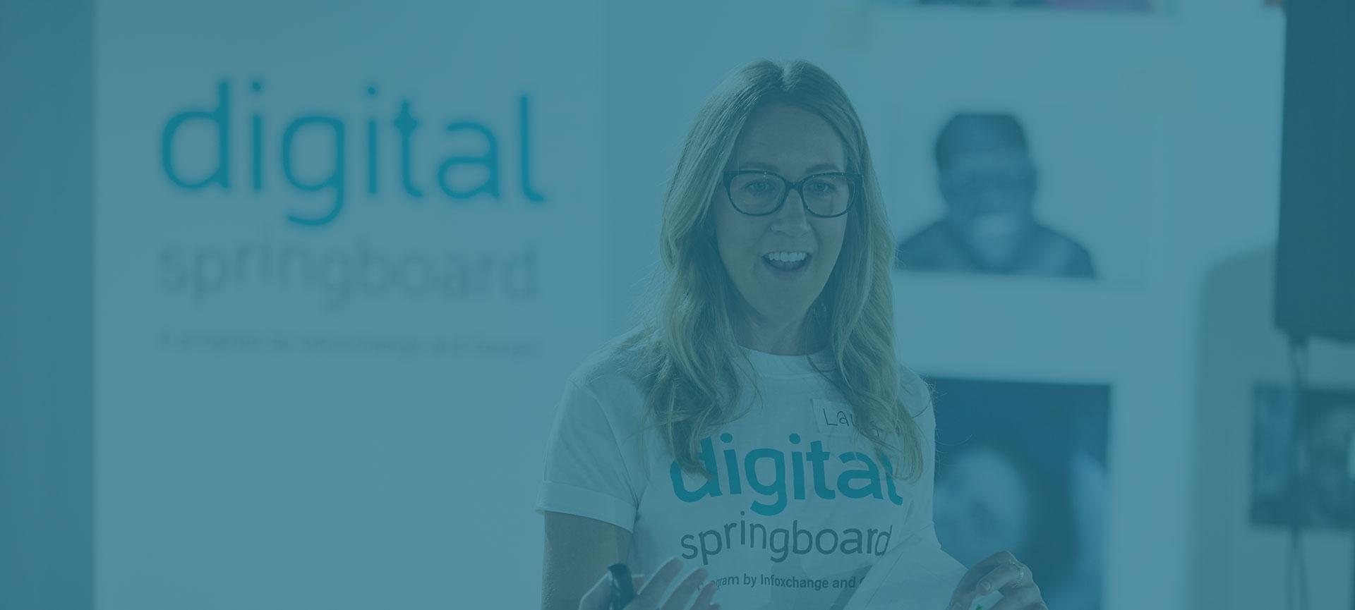 Trainer presenting Digital Springboard
