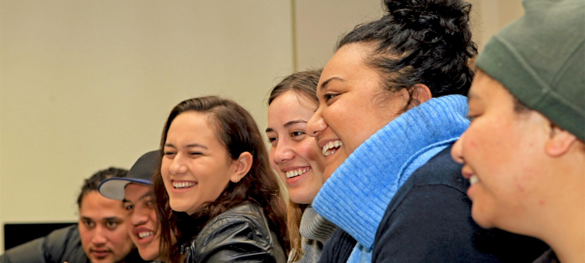 Group of students smiling