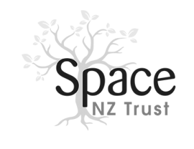 Space NZ logo mono
