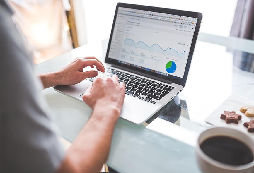 Google Analytics on laptop