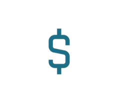 Connected Future icon showing dollar sign