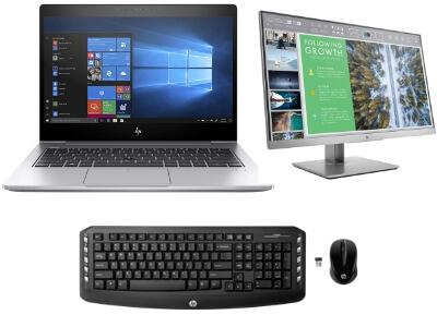 HP EliteBook 830 G5 (3RS35PA) + monitor & keyboard