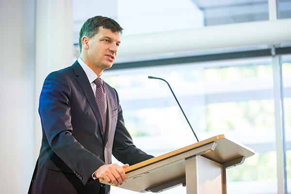 Angus Taylor speaking at ADIA launch