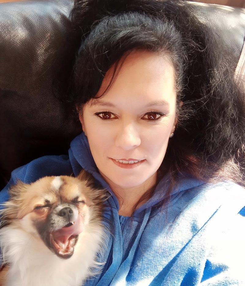 Amanda with her dog