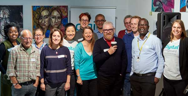 ASRC staff with other Digital Springboard partners