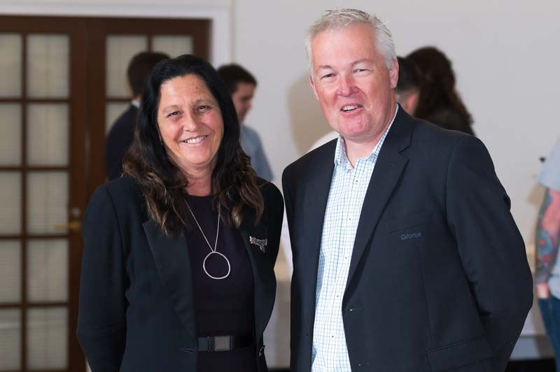 Member for Geelong MP Christine Couzens with Gforce GM of Commercial Operations Cam Quinten