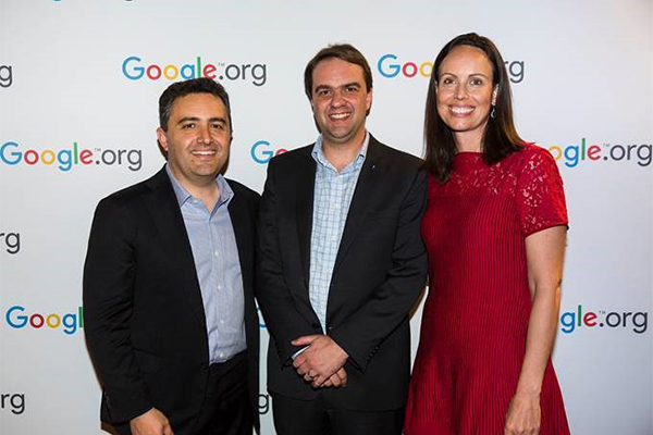 David with Jason & Jacqueline from Google