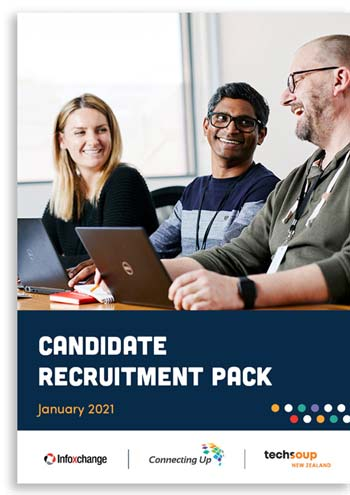 Infoxchange Group recruitment pack cover page