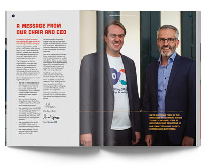 2019 annual report showing the CEO message - link opens in new tab