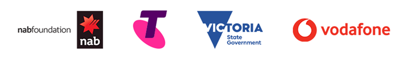 NAB, Telstra, Victorian Government and Vodafone logos