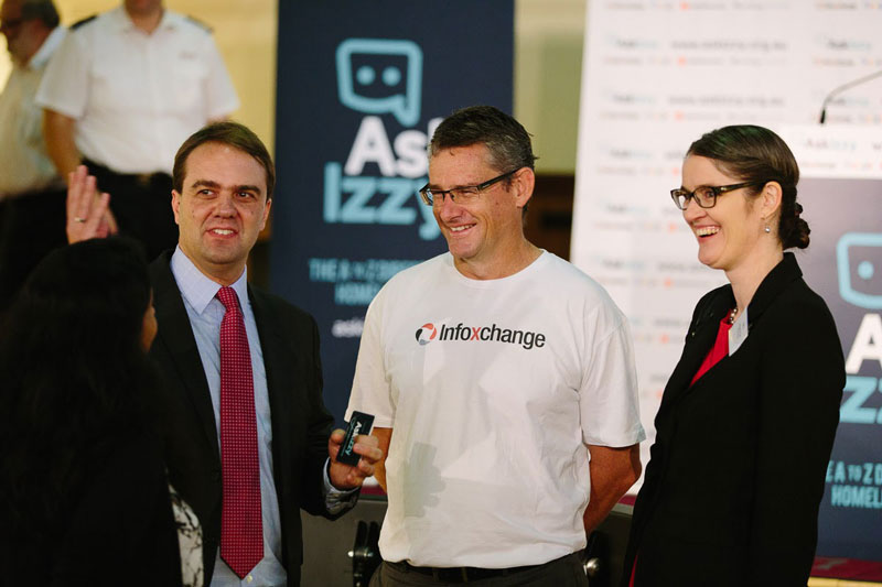 David Spriggs, Brian McLaughlin and Morgana Ryan at the launch of Ask Izzy