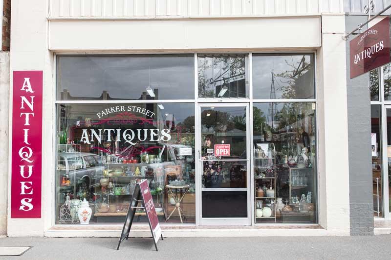 Parker Street Antiques shop