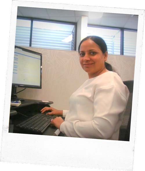 Photo of Rajni at work