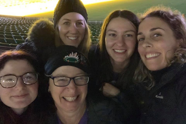Steph and others at Sleep at the G