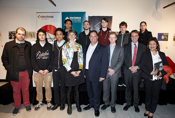 Philip Dalidakis with whole Youth IT group at VU