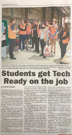 Tech Ready students featured in the Wangaratta Chronicle